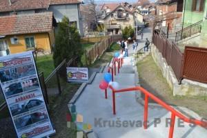 Šareni baloni za rekonstruisano stepenište u Balšićevoj ulici