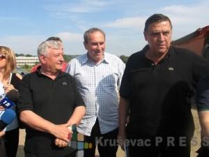 Radoica Milosavljević, levo, sa Vladimirom Tasićem i Milutinom Mrkonjićem