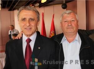 Desimir Pavlović i Radoica Milosavljević u vreme dok su obavljali dužnost gradonačelnika i zamenika gradonačelnika Kruševca FOTO: S.Milenković