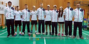 Juniorska badminton reprezentacija Srbije FOTO: Badminton savez Srbije