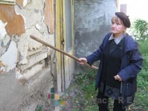 Gordana Cvetković pored zida koji su joj obile komšije FOTO: S.Milenković