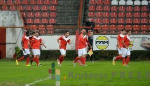 Fudbaleri Napretka su jesenju polusezonu u prvoj ligi Srbije završili na liderskoj poziciji FOTO: S.Simić
