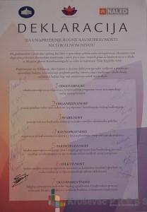 Deklaracija za unapređenje rodne ravnopravnosti na lokalnom nivou