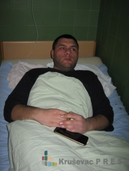 Nikola Cvetković je smešten na Odeljenje hirurgije FOTO: S.Milenković