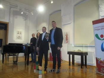 Darko Božilović, najbolji sportista Kruševca u 2015. godini, i Bojan Obradović, predsednik Sportskog saveza Grada Kruševca