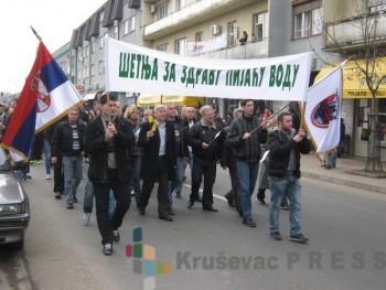 Ćićevčani šetali za zdravu pijaću vodu FOTO: S. Milenković