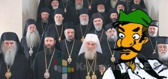 Patrijarh jaše na čelu kolone