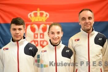 Sergej Lukić, Marija Sudimac i trener Dragan Antić