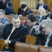 Srđan Milivojević i Tomislav Nikolić u jednom od prethodnih saziva Skupštine Srbije