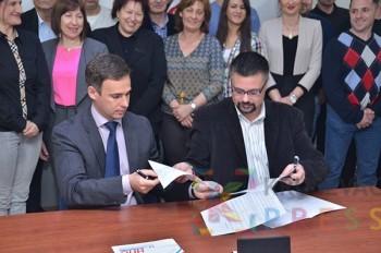 Sporazum o zajedničkom nastupu NPS i SDS u Trsteniku potpisali su Miroslav Aleksić i Stevan Đaković