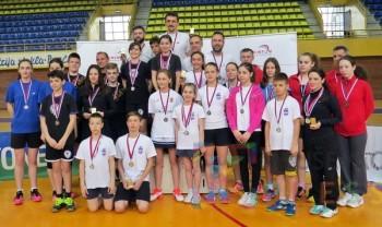 Učesnici turnira u Pančevu FOTO: Badminton savez Srbije