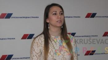 """Jovana Dunjić je osma na listi koalicije """"Aleksandar Vučić - Srbija pobeđuje"""" za lokalne izbore FOTO: S. Milenković"""