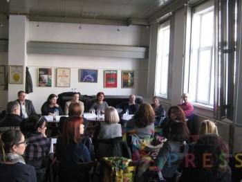 Na panelu su učestvovali predstavnici svih relevantnih organizacija i institucija koje se bave vršnjačkim nasiljem FOTO: S. Babović