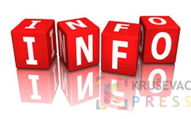 Servisne informacije za 12. oktobar