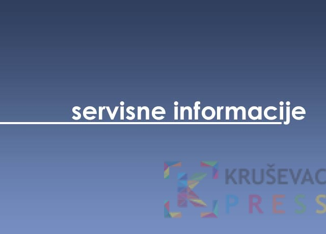 Servisne informacije za 13. april