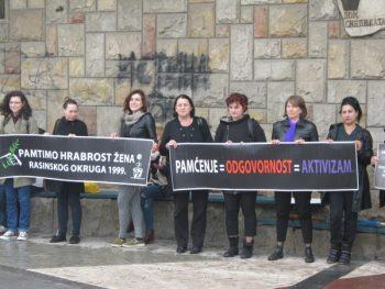 Podsećanje na protest žena Rasinskog okruga 1999. godine FOTO: S. Milenković