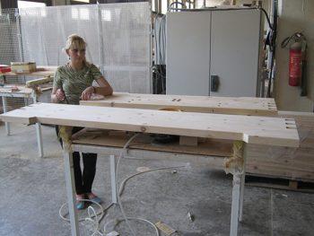 """U kompaniji """"Kolarević"""" planiraju izgradnju fabrike za proizvodnju zidova od drveta FOTO: S. Milenković"""