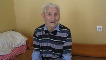 Živko Bačanin je jedan od najstarijih stanovnika Gerontološkog centra FOTO: S. Tomić