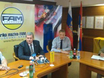 Vladica Petrović i Pavel Verenikin nakon potpisivanja ugovora FOTO: S. Milenković