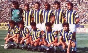 Golman Živan LJukovčan i Dušan Pešić u dresu Fenerbahčea 1987. godine