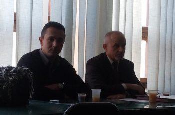 Vladimir Antić i Dragojlo Minić iz Centra za socijalni rad Trstenik FOTO: CINK