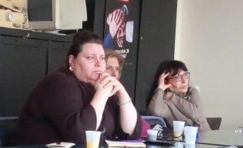 Predstavnice Alternativnog centra za devojke i Romani cikne Andrijana Kocić, Slavica Rakić i Snežana Živković FOTO: CINK