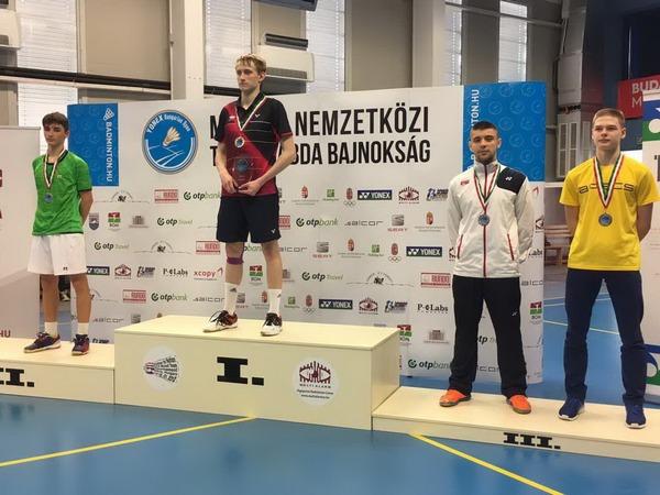 7th Multi Alarm Hungarian Junior 2017_Luka Milic na pobednickom postolju