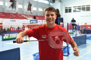 Sergej Lukić je drugi na rang listi Evropske badminton konfederacije