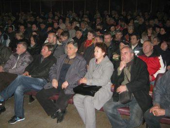 """Bivši radnici IMK """"14.oktobar"""" na skupu u Domu sindikata FOTO: CINK - S.Milenković"""
