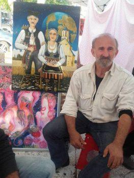 Zoran Anđelković Kec u svom ateljeu