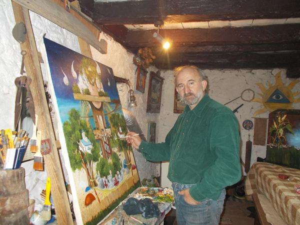 zoran andjelkovic kec u svom ateljeu foto privatna arhiva
