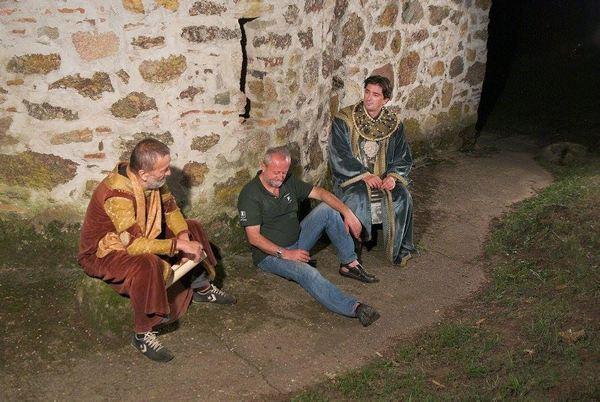 toma trifunovic sergejev i banetov otac dragan capkunovic i vojin cetkovic na snimanju filma u stalacu foto s.simic