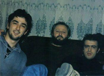 Dragan Čapkunović sa Vojinom Ćetkovićem i Sergejom Trifunovićem FOTO: Privatna arhiva