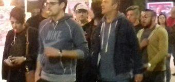 Glumac Sergej Trifunović na protestu u Kruševcu