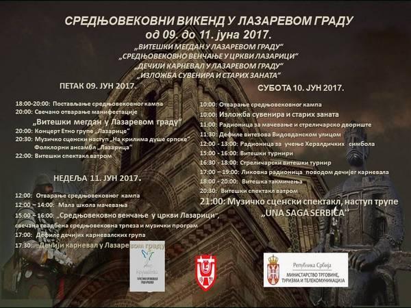 Srednjevekovni vikend u Lazarevom gradu
