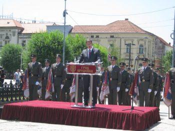 Aleksandar Vučić je održao govor pored Spomenika kosovskim junacima FOTO: CINK - S.Milenković