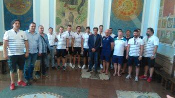 Vaterpolo reprezentacije Srbije i Australije na prijemu u Gradskoj upravi FOTO: CINK - S.Milenković