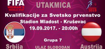 Fudbalerke Srbije dočekuju Austrijanke u Kruševcu