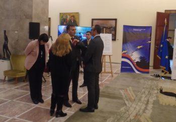 """Nenad Krstić, predsednik """"Evrokontakta"""", u razgovoru sa Semom Fabricijem, šefom delegacije Evropske Unije u Srbiji"""