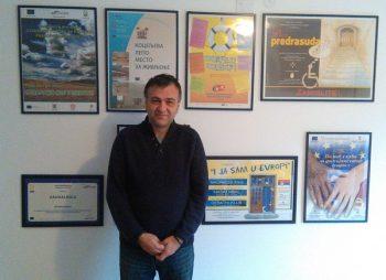 """Nenad Krstić, predsednik udruženja građana za podršku evrointegracijama """"Evrokontakt"""" FOTO: CINK - S.Milenković"""