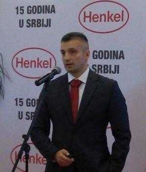 "Dušan Antonijević,  direktor fabrike ""henkel Srbija"" u Kruševcu"