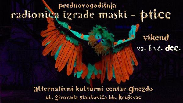 Radionica za izradu maski u AKC Gnezdo