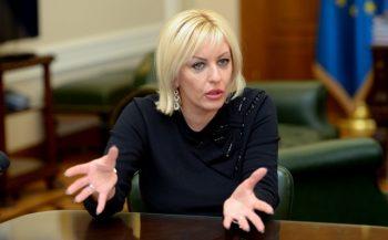 Ministar za evropske integracije Jadranka Joksimović veruje da je realna procena da Srbija i Crna Gora postanu članice EU 2025.godine FOTO: Tanja Valič