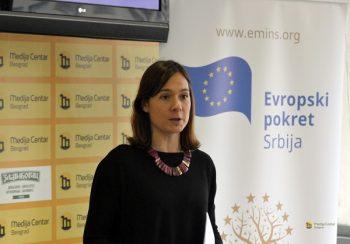 Tisa Čaušević je govorila o Poglavlju 12 koje se odnosi na bezbednost hrane FOTO: Medija centar Beograd
