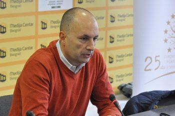 Vladimir Međak je novinare upoznao sa dosadašnjim tokom procesa evrointegracija FOTO: Medija centar Beograd
