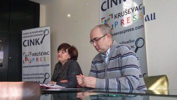 """Sretina Dobrodolac, UG """"Evrokontakt"""", i Slaviša Milenković, predsednik Centra za istraživačko novinarstvo Kruševac"""