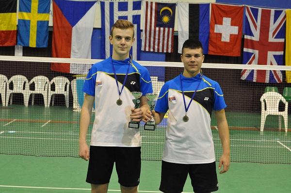 Hellas Junior International 2018_Osvajaci zlatne medalju u muskom dublu Mihajlo Tomic i Sergej Lukic