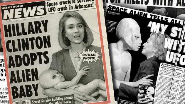 Hilari Klinton je usvojila bebu vanzemaljca (iz Weekly World News)