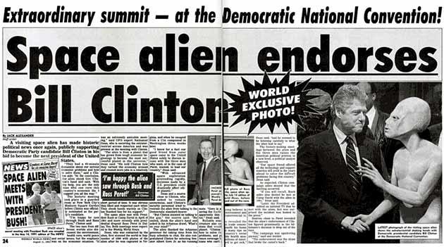 Vanzemaljac podržava Bila Klintona
