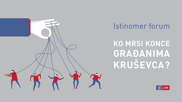 """Istinomer forum """"Ko mrsi konce građanima Kruševca?"""""""